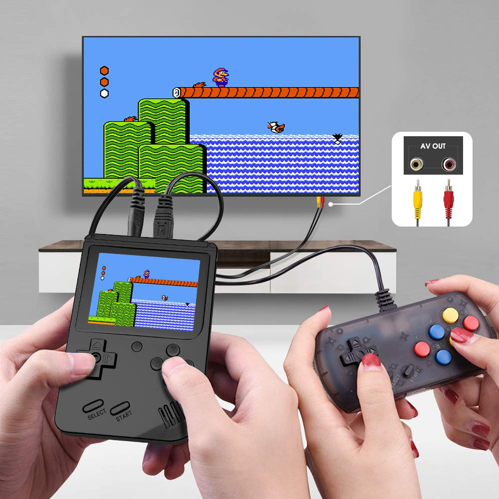 MEEPHONG Handheld Game Console, TV Output Retro FC Plus Extra Joystick NES Classic Game Console Built-in 168 Handheld Video Games (Black) by MEEPHONG (Image #4)