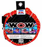 WOW World of Watersports, 11-3000, Tow Rope, 60 Feet, 2375 Pounds Break Strength, Floating Foam Buoys