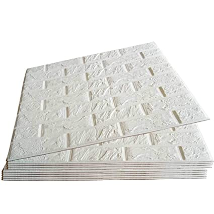 Pack White Brick Wallpaper Tiles Poppap Self Adhesive D Foam Wall Panels For