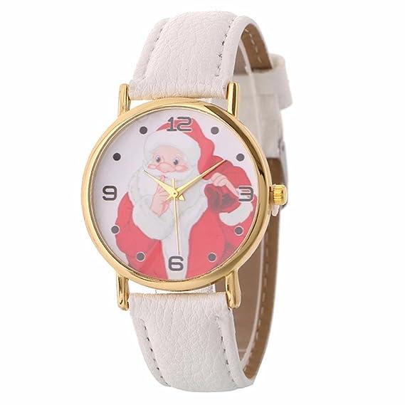 Amazon.com: SMTSMT Womens Santa Watches Claus Creative Pattern Quartz Watch Leather Strap Belt Table Watch (White): Watches