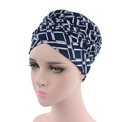 HANANei Clearance Sale Women India Muslim Elastic Turban Print Long Tail Hat  Head Scarf Wrap ( f65111653680