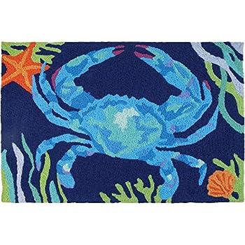 Amazon Com Jellybean Sea Turtle Beach Indoor Outdoor Rug