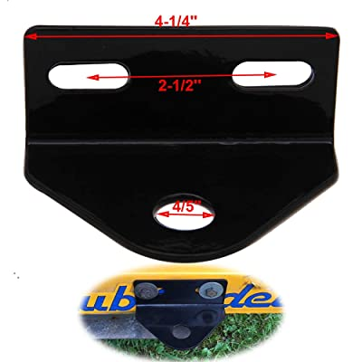 """Lonwin Universal Zero Turn Mower Trailer Tow Hitch - 2""""-3"""" Mounting Holes with 3/4"""" Pin Hole: Automotive"""