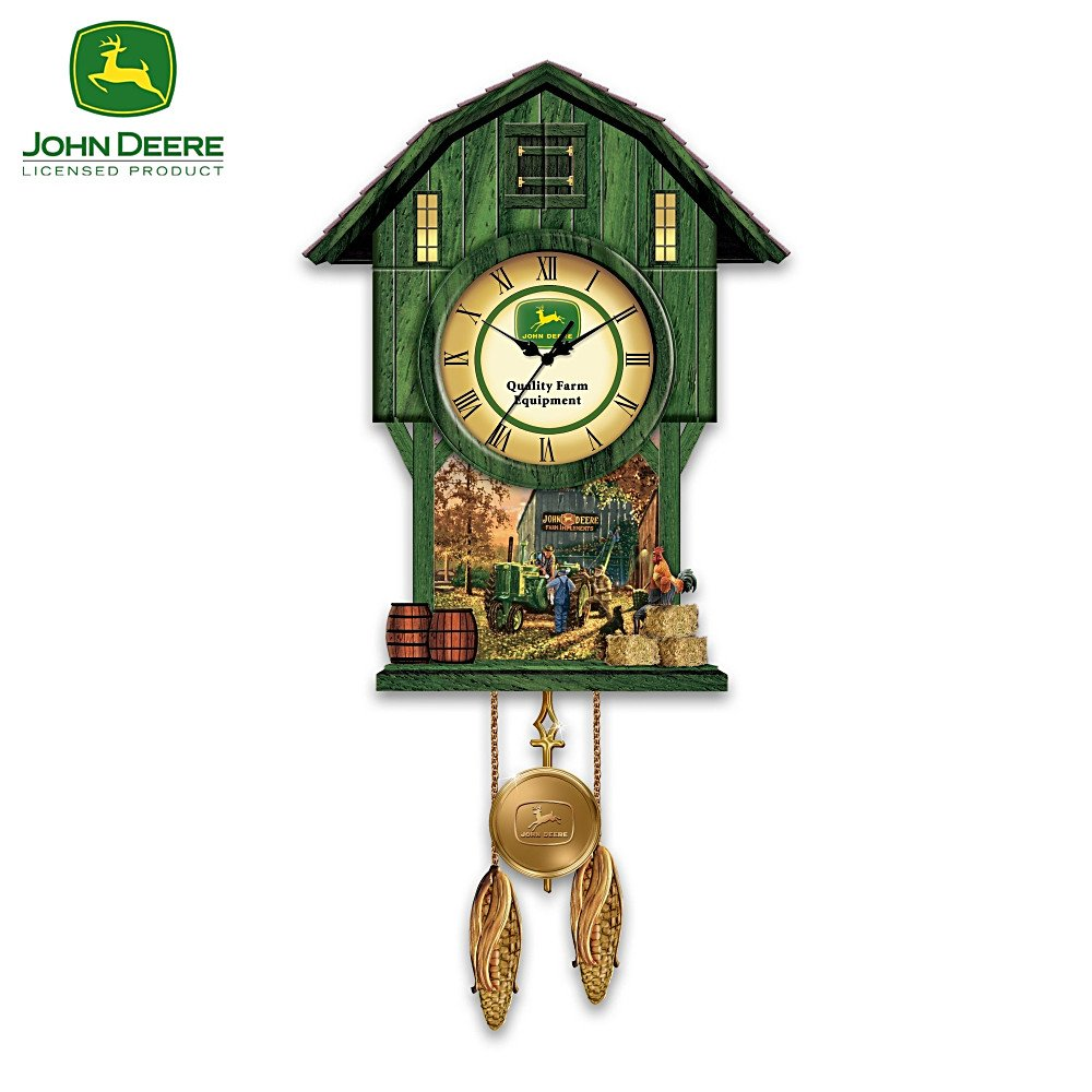 John deere classic times cuckoo clock by the bradford exchange john deere classic times cuckoo clock by the bradford exchange amazon kitchen home amipublicfo Images
