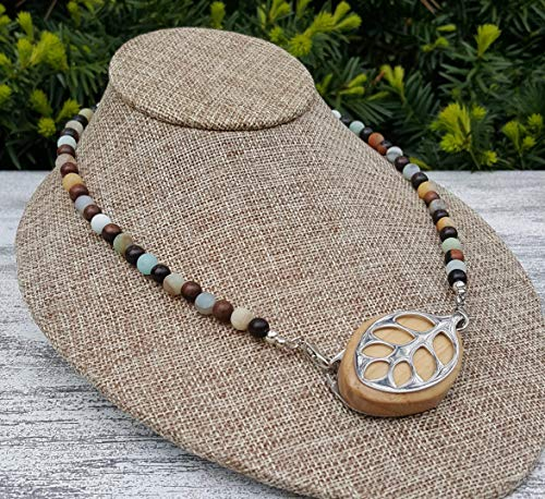 Amazonite Necklace - Bellabeat Leaf