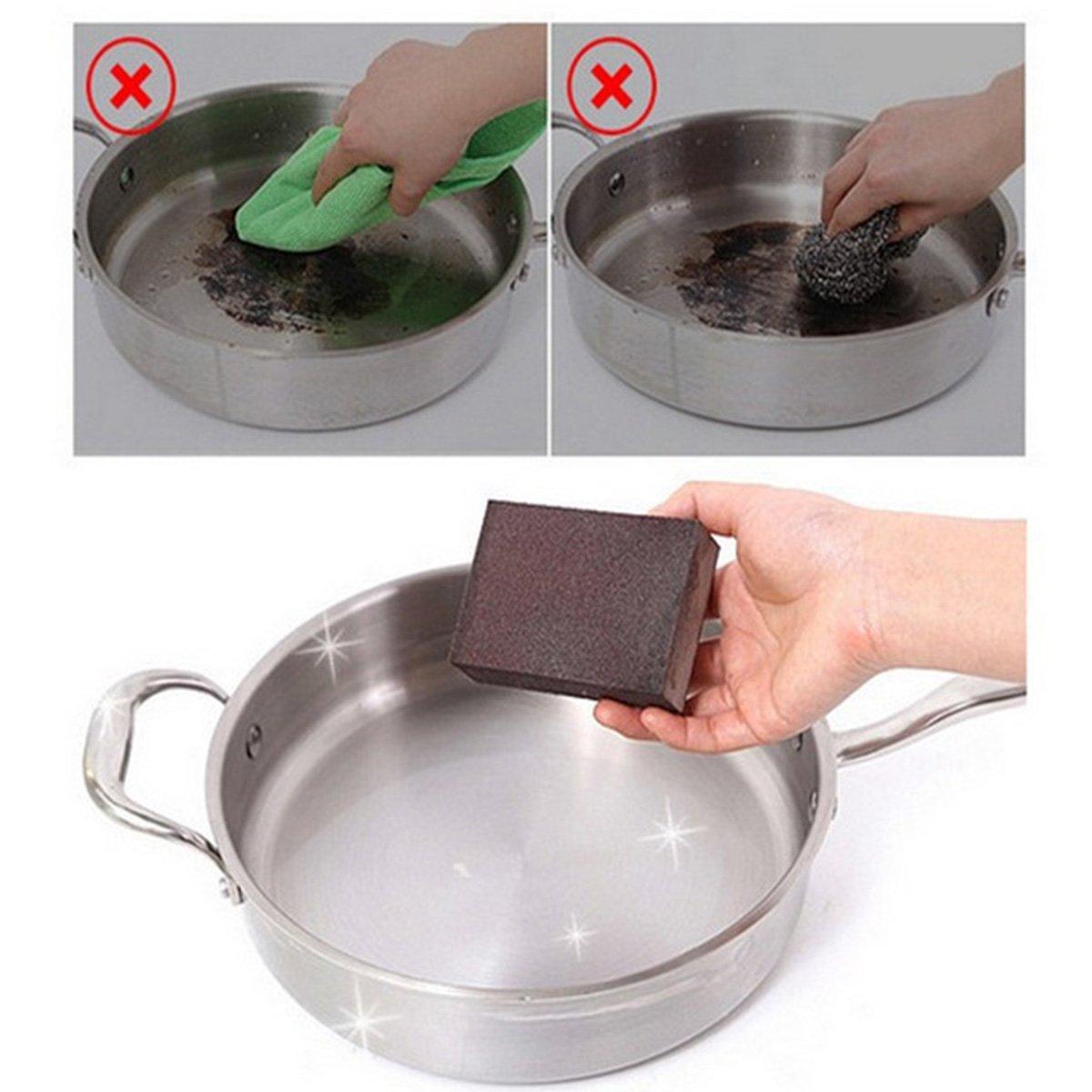 Walnut Scrubbers GRATITUDE Dish Sponges Household 6 pcs Naturals Stink Free Nano carborundum Cleaning Sponges Inhibit Bacteria.Stay Fresh NO ODOR Guarantee!Eco kitchen