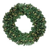Northlight 36'' Pre-Lit Deluxe Windsor Pine Artificial Christmas Wreath - Clear Lights