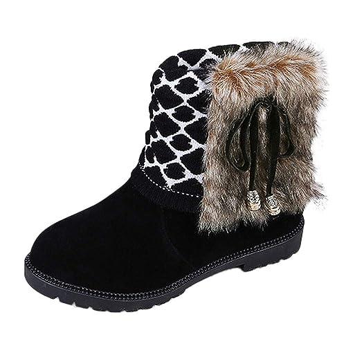 Botas de Nieve para Mujer Otoño Invierno Moda 2018 PAOLIAN Botines Planos Terciopelo Botas Zapatos de Algodón Señora Botas Chukka Clásicas Conservar el ...