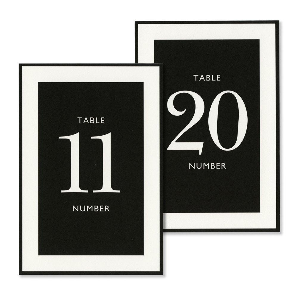 Vera Wang 12-20 Black & White Table Cards by Vera Wang