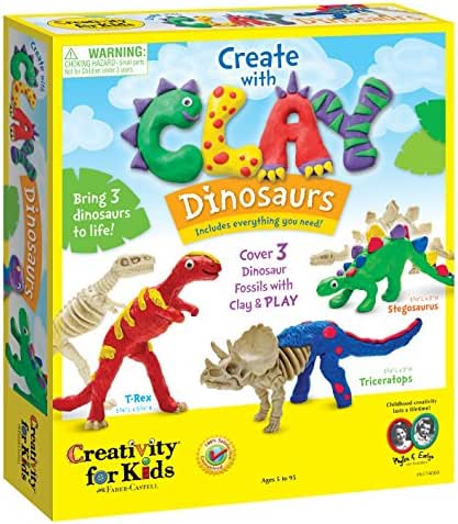 Creativity for Kids Create with Clay Dinosaurs - Build 3 Dinosaur Figures with Modeling Clay