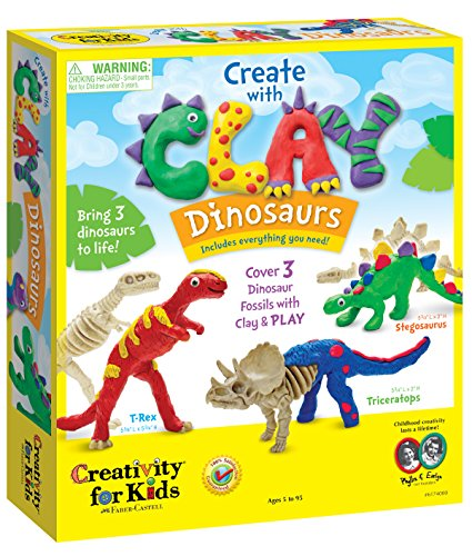 Creativity for Kids Create with Clay Dinosaurs - Build 3 Dinosaur Figures with Modeling Clay -