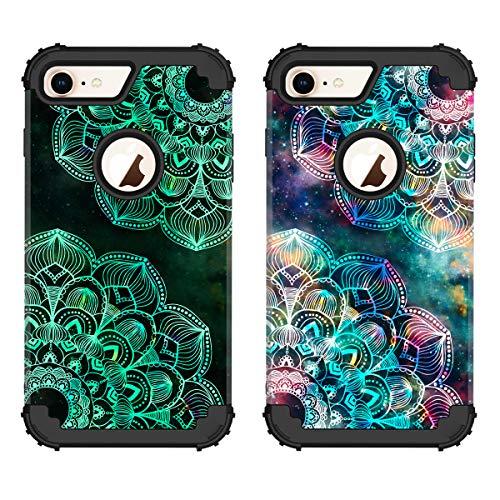 ZHK iPhone 8 Case, iPhone 7 Case for Women Flower,noctilucous 3