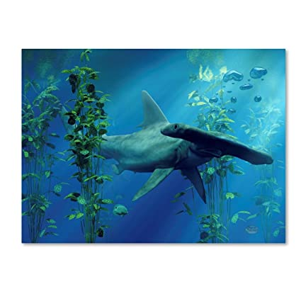 Trademark Fine Art Hammerhead by Daniel Eskridge, 18x24-Inch Canvas Wall Art