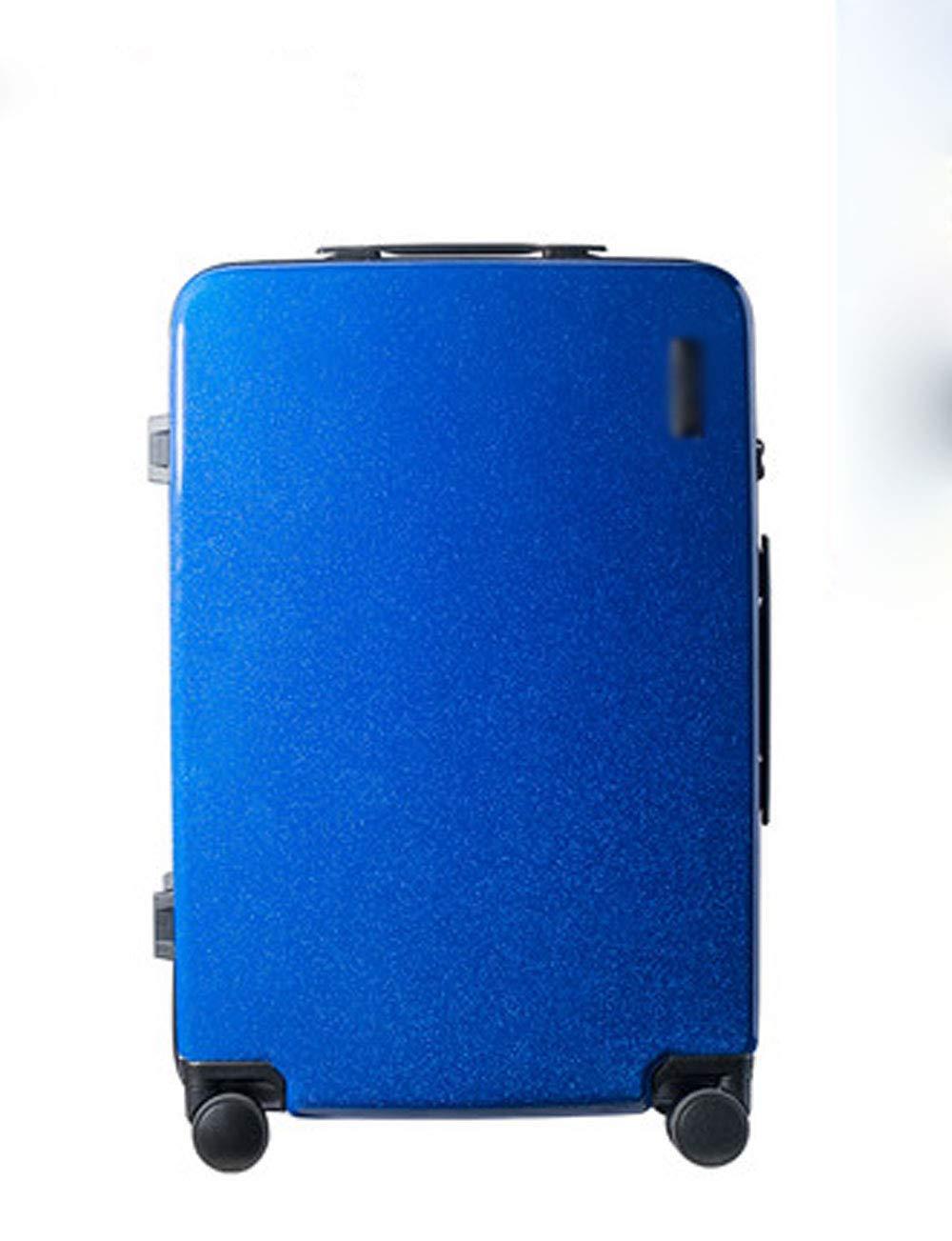 4輪の荷物、サイレントローラー、TSA通関ロック、シャーシへのプルロッド20インチの超軽量PC (色 : 青)   B07GJCSFCP