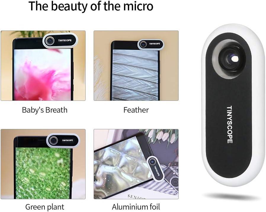 Microscopio Lupa smartphone bolsillo,TIPSCOPE Microscopio Mini ...