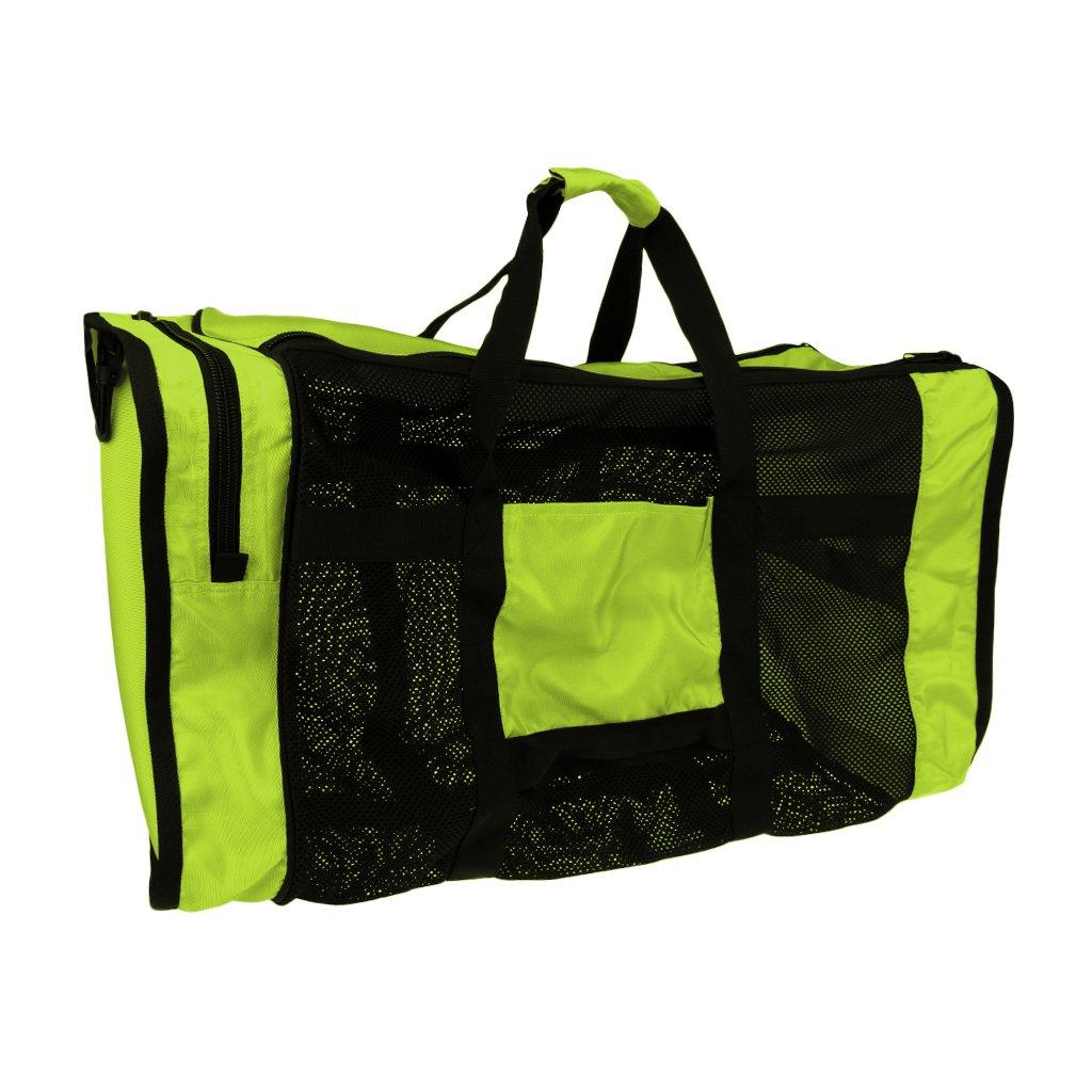 Green Jili Online 35''x16'' Large Mesh Duffel Gear Tote Bag Shoulder Bag For Scuba Diving Snorkeling Swimming Equipment