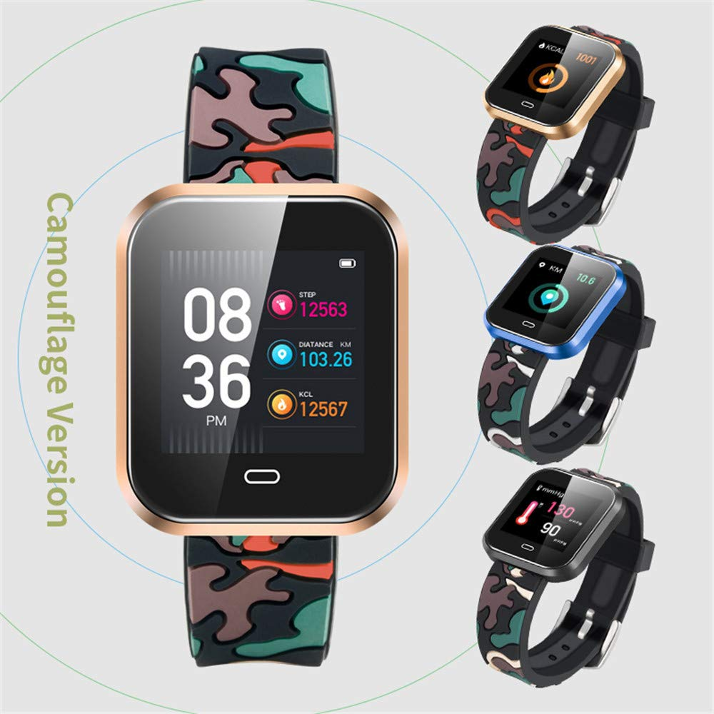 Cebbay Reloj Inteligente Pulsómetro Monitor de sueño,Podómetro Pulsera Actividad Inteligente para Deporte: Amazon.es: Electrónica