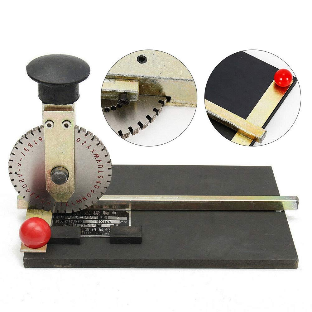 Wanlecy Manual Embossed Signage Machine Metal Plate Printer Stamping Label for Dog Tag Metal Printing