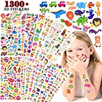 UtopiaLee Autocollants Animaux 20 Different Sheets Kids & Toddlers Puffy Sticker Mega Variety Pack - 1300+ 3D Puffy Stickers Scrapbooking for Kids