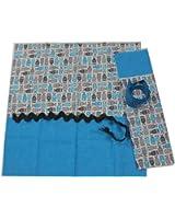 PINIDI DIY Nähset Kissenhülle 40x40cm Eule blau-grau / blau