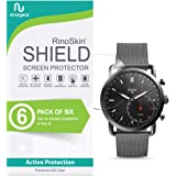 (6-Pack) RinoGear Fossil Hybrid Smartwatch Q Commuter Screen Protector Case Friendly Screen Protector for Fossil Hybrid Smartwatch Q Commuter Accessory Full Coverage Clear Film