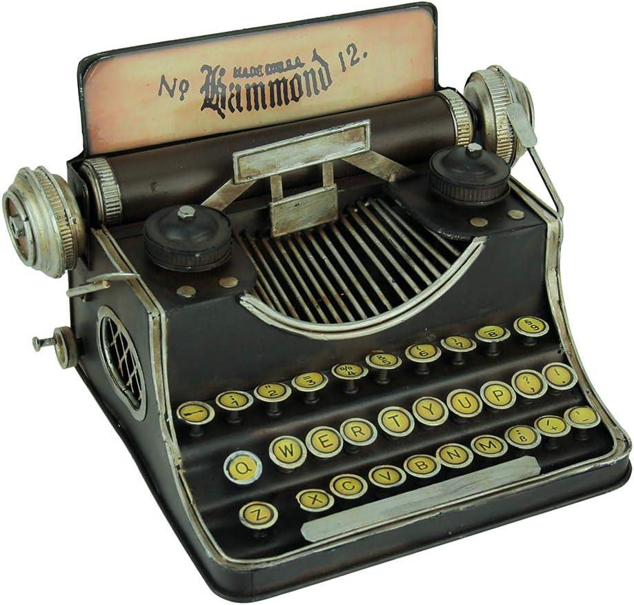 Upper Deck, LTD Black Vintage Finish Tin Antique Typewriter Coin Bank