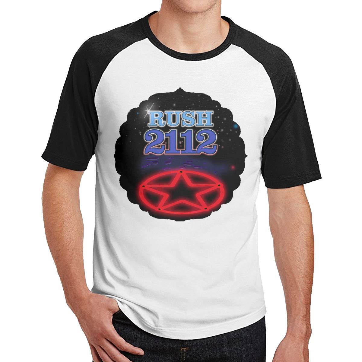 Bloonmer Mens Comfortable Rush 2112 Short Sleeve T-Shirts