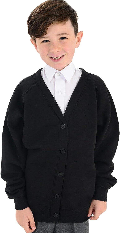 adam /& eesa Childrens Button up Cardigan School Uniform Long Sleeve 12 Colours Ages 3-13