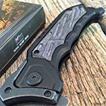 """8.25"""" SPRING ASSISTED OPEN Tactical Blade Folding POCKET KNIFE Wood Steampunk G + Free eBook by SURVIVAL STEEL 8"""