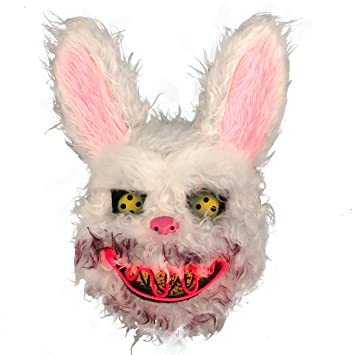 Amazon.com: Bloody rabbit Led mask light on mouth plush& PVC ...