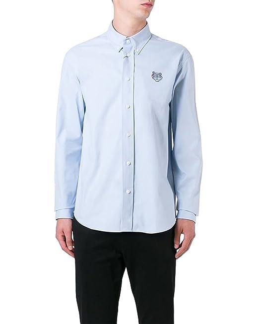 Kenzo Paris - Camisa para Hombre Mini Tiger - Azul, XXL: Amazon.es: Ropa y accesorios