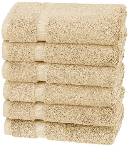 Pinzon Organic Cotton Hand Towels (6 Pack), Sand