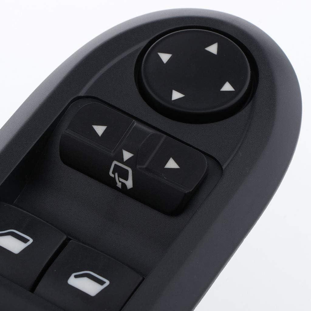Shiwaki Neuer Fensterheber Hauptschalterknopf OEM F/ür Peugeot 407 6E 2004 2014