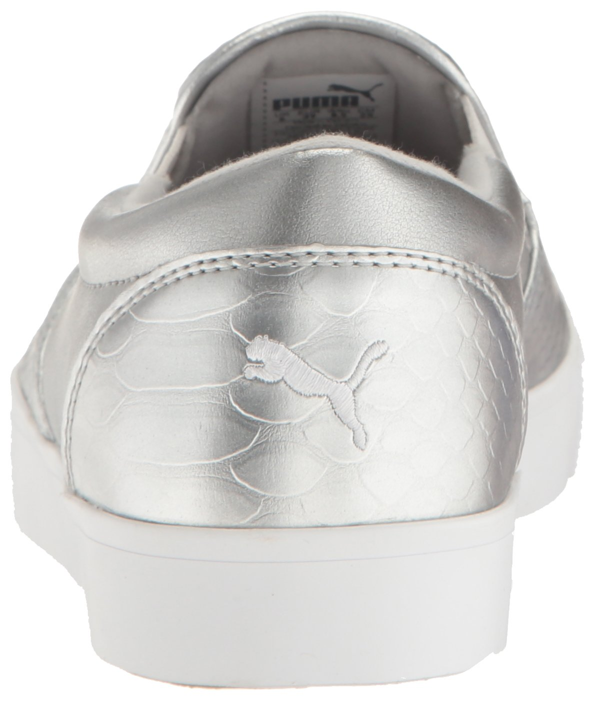 PUMA Women's Tustin Slip-on Golf-Shoes B01MSHLPR3 8.5 B(M) US|Puma Silver-puma White