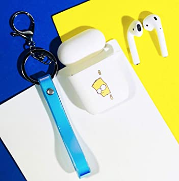 Amazon Com Airpods Case Cute Cartoon Silicone Case With Keychain