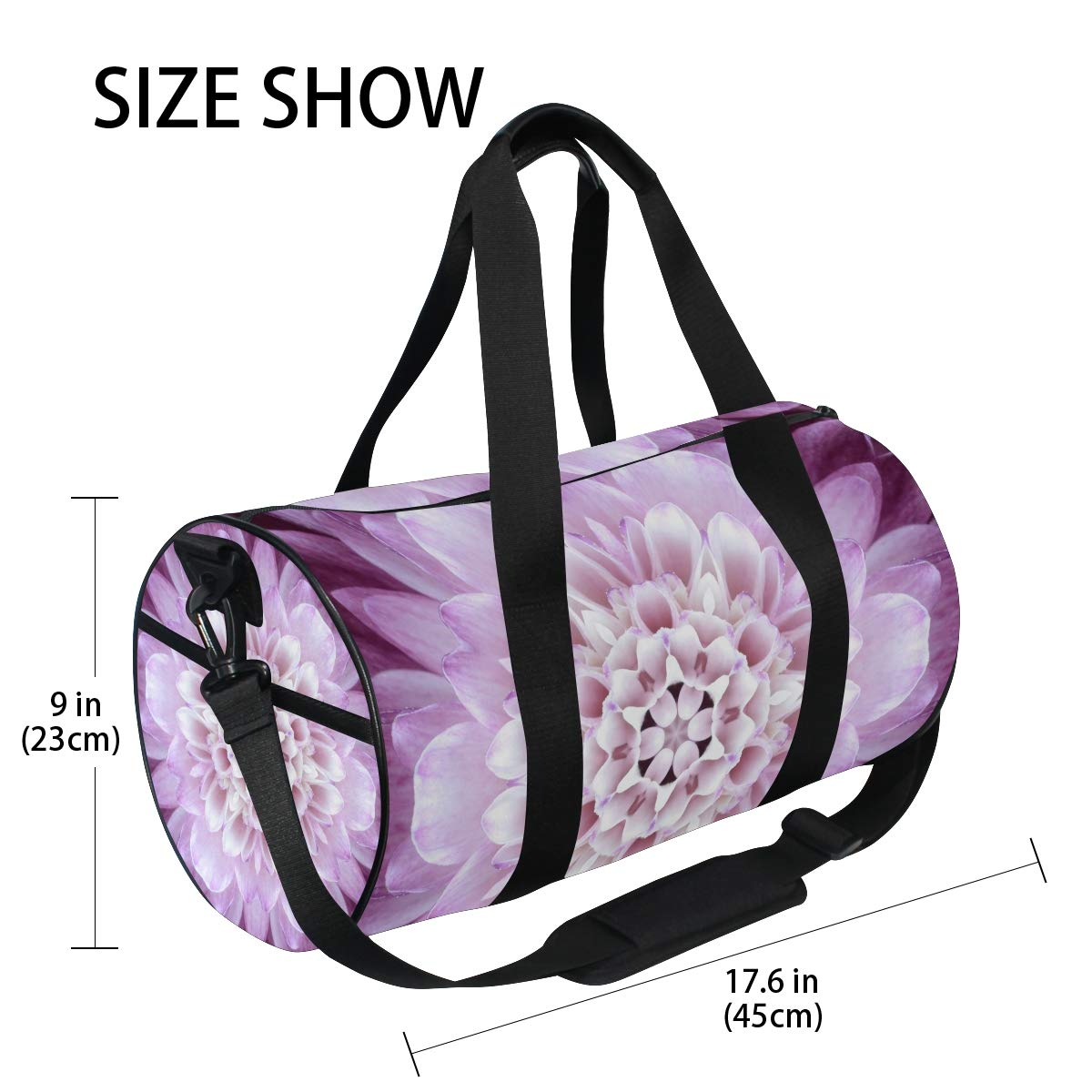 Mandala Bohemian Yoga Sports Gym Duffle Bags Tote Sling Travel Bag Patterned Canvas with Pocket and Zipper For Men Women Bag by EVERUI (Image #4)