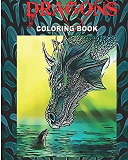 DRAGONS Coloring Book Design