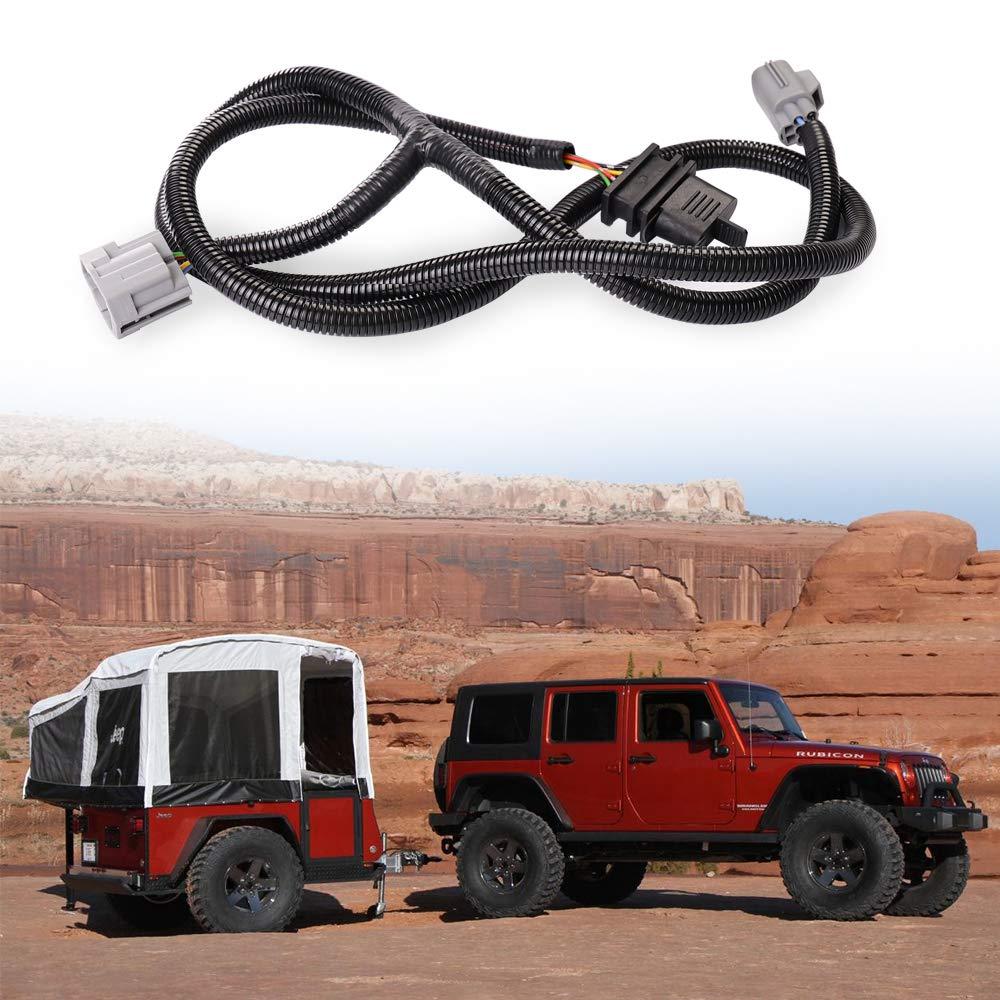 Xinyou Jeep Wiring Harness Jk Trailer Unplug Wrangler 4 Way Flat Connector Fits 2007 2018 2 Door Automotive