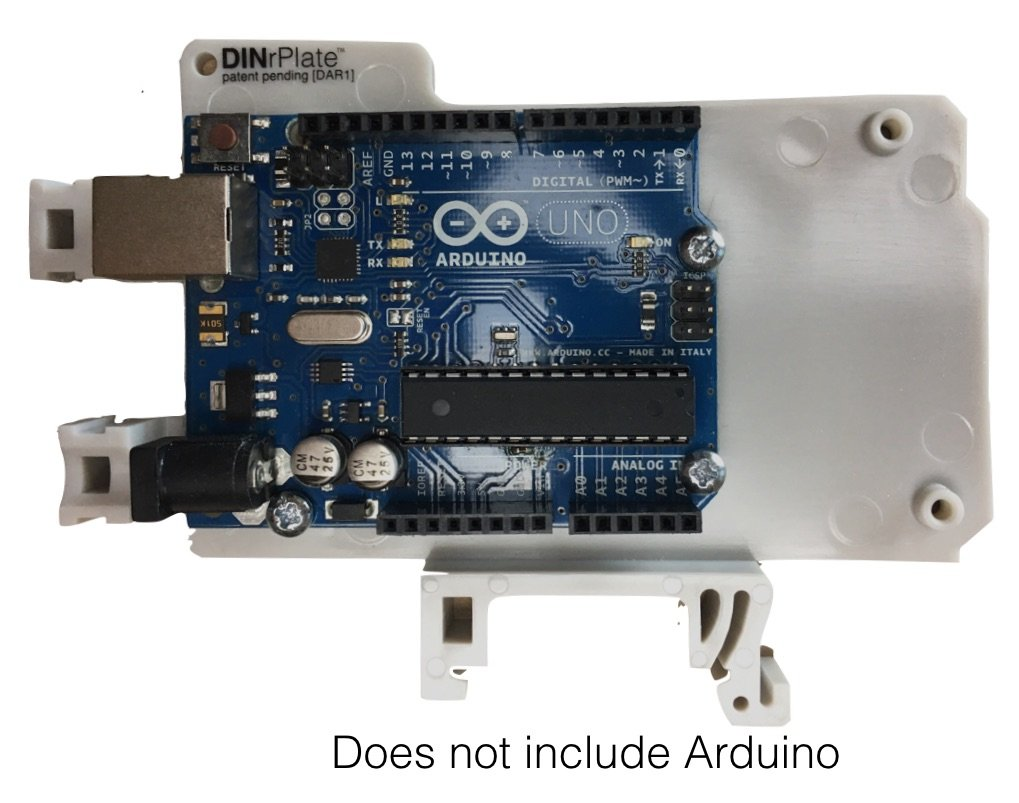 DINrPlate Montaje en Riel DIN para Arduino UNO/Mega: Amazon.es: Electrónica