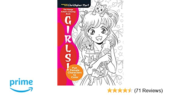 The Manga Artist\'s Coloring Book: Girls!: Fun Female Characters to ...
