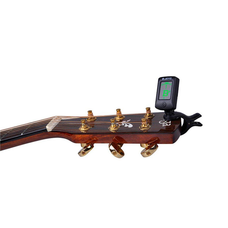 Sintonizador Para Guitarra afinador Clip Afinador de Guitarra Afinador Digital Con pantalla LCD Para Cromático,Guitarra,Bajo,Ukelele,Violin: Amazon.es: ...