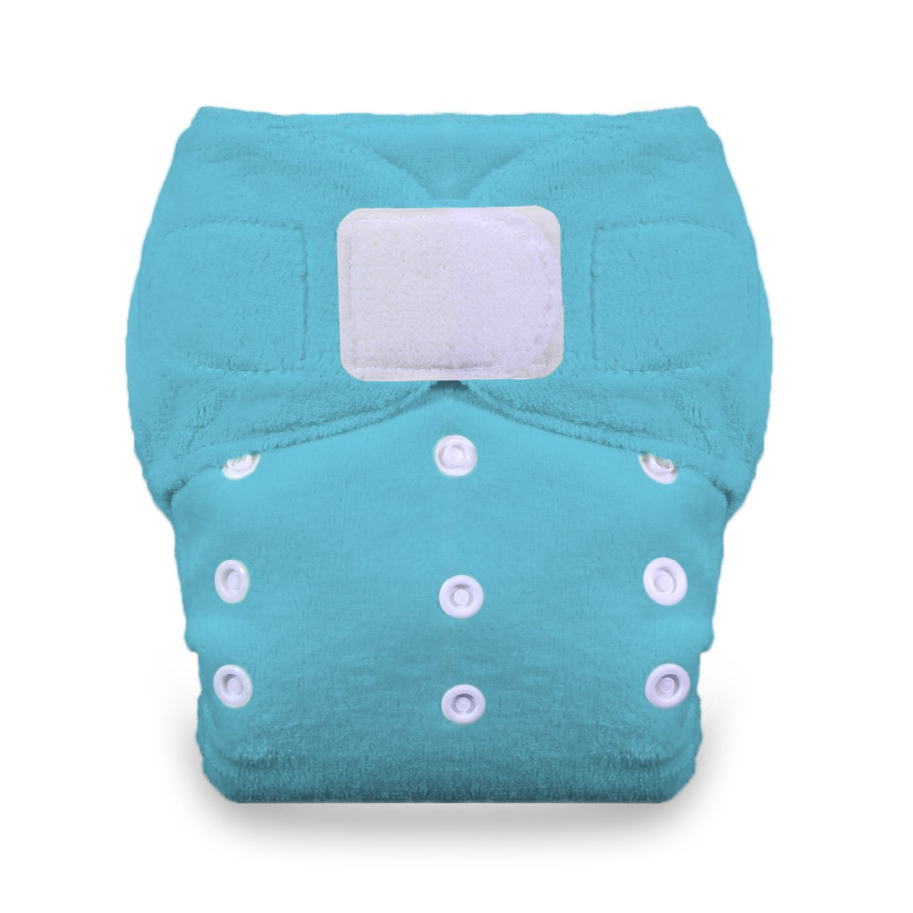 Thirsties Duo Fab Fitted Cloth Diaper with Hook and Loop Ocean Blue Size 1