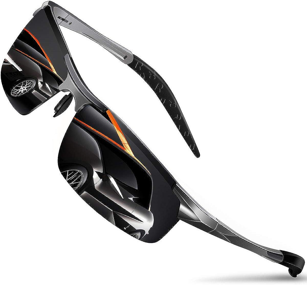 DADA-PRO Sonnenbrille Herren Sportbrille Damen Polarisiert Verspiegelt Retro Fahren Fahrerbrille UV400 Schutz für Autofahren Reisen Golf Party und Freizeit (Grau Neu/Nicht Vespiegelte Linse): Amazon.de: Bekleidung - Coole Sonnenbrille