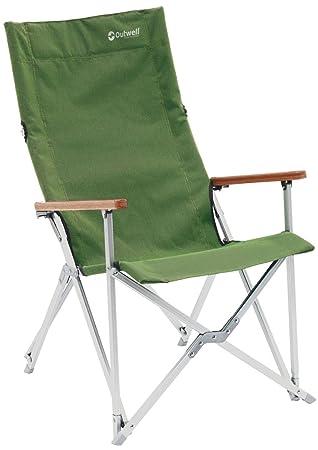 Outwell Duncan Bambus Modernes Faltbar Camping Garten Stuhl Mit Tragetasche  Grün