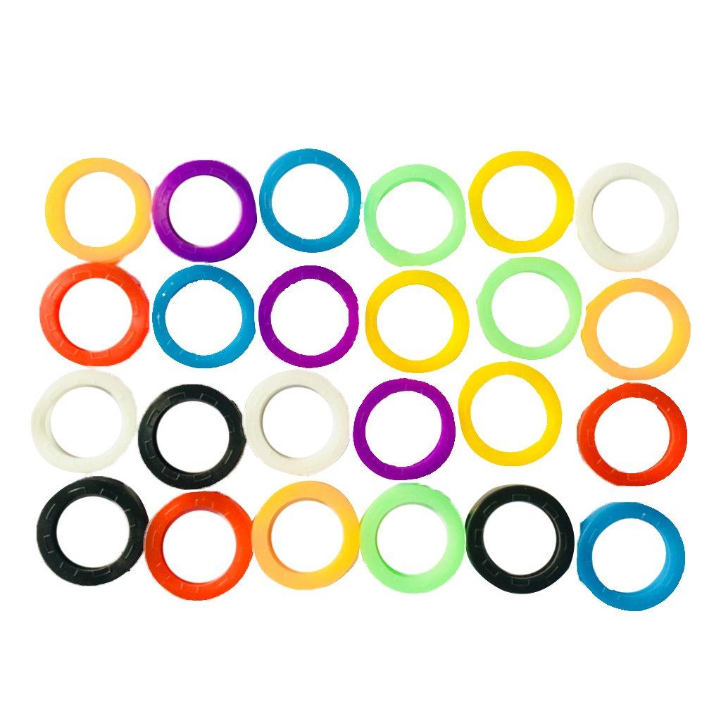 KESOTO 24pcs Cap Clé Couverture Protection pour Les Clés - Multicolore