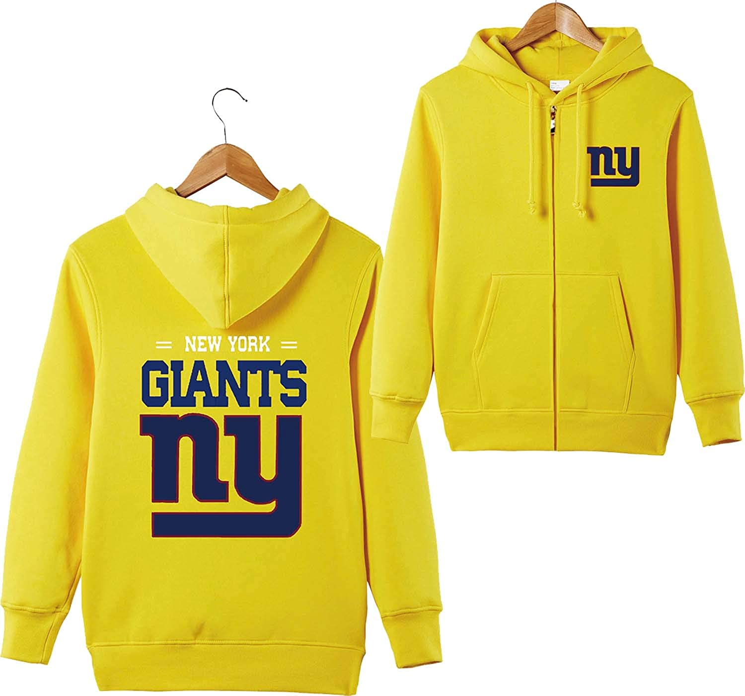 New York Giant 3D Hoodies Hooded All Over Print Zip Hoodie T-shirt Unisex Adults