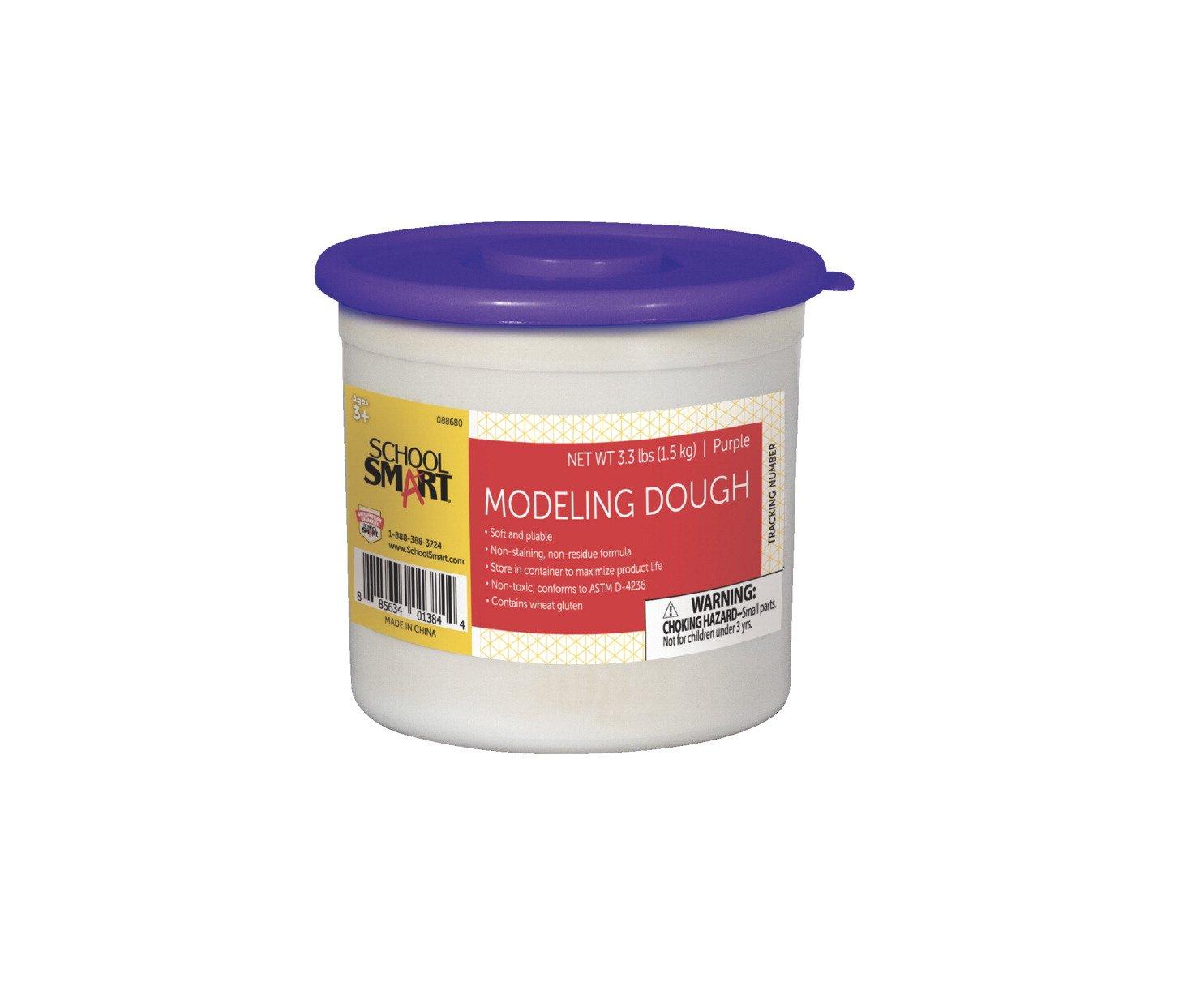 School Smart 88680 Non Toxic Modeling Dough - 3 1/3 pounds - Purple