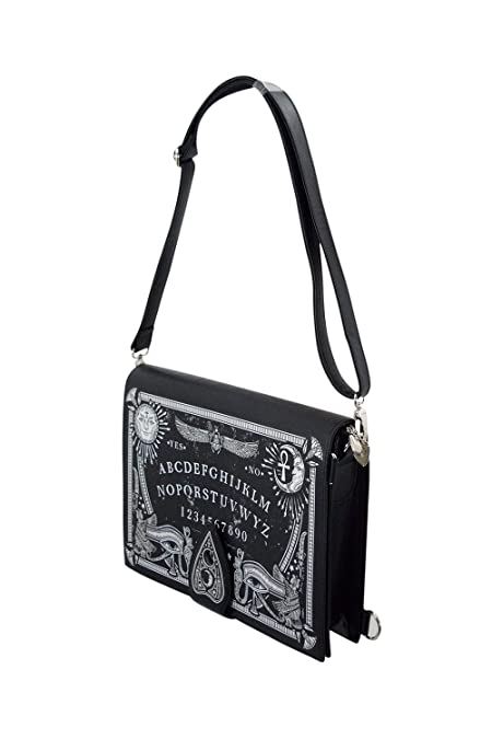 7942651254032a Restyle Gothic Black Magic Ouija Board & Planchette Ouija Board Shape  Handbag: Handbags: Amazon.com