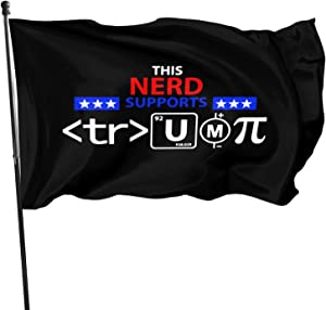 Opplsh Hdrejn This Nerd Supports Trump Home Decoration Flag Garden Flag Indoor Outdoor Flagone Size