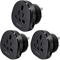 SAA Approved UK/US/JP/CA to AU/NZ Adaptor Plug with Insulated Pins, UK/US Plug Convert to 3-Pin Australian/New Zealand…